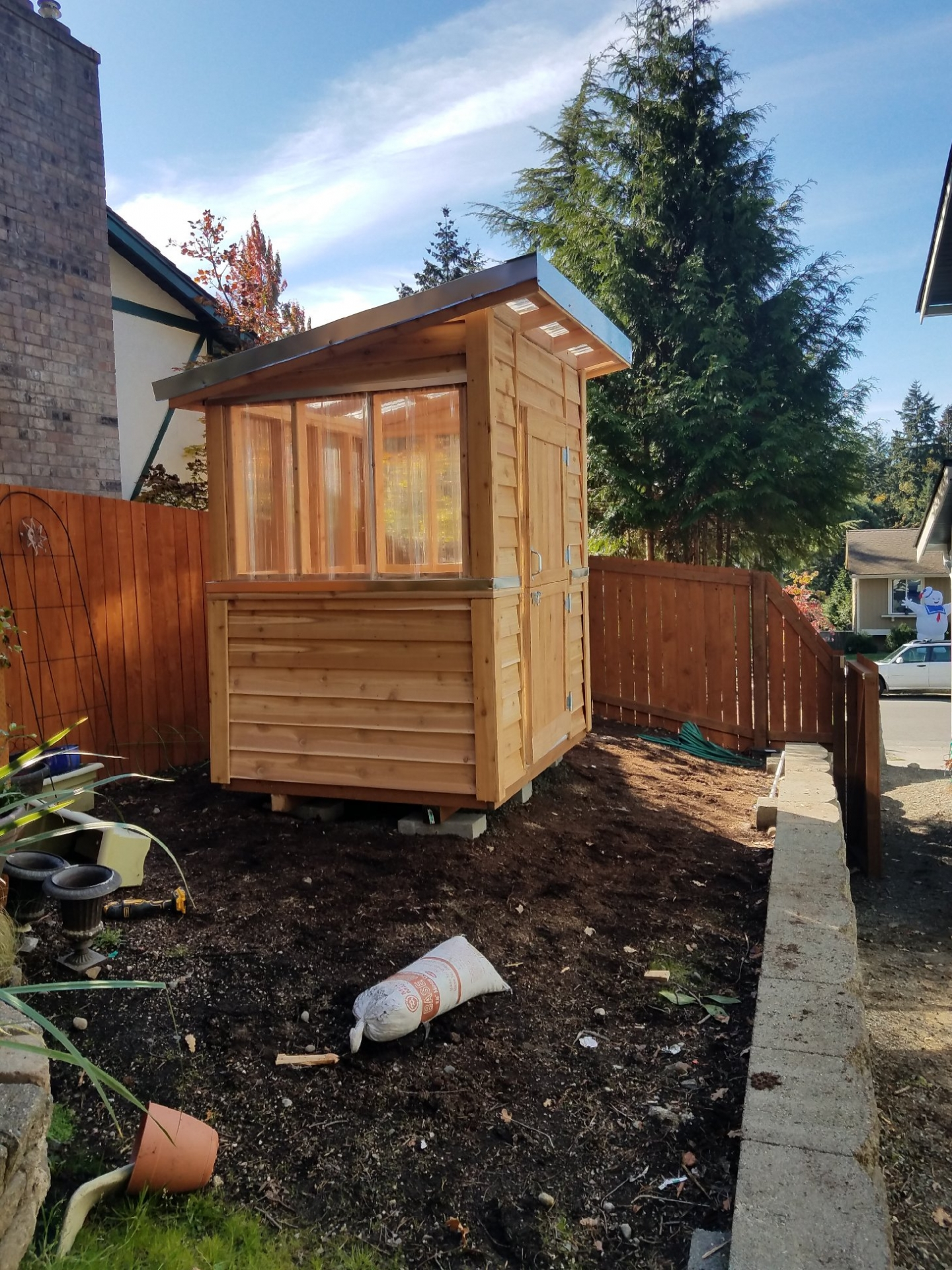 6x6 Greenhouse Shed